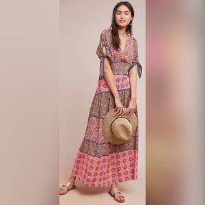 Anthropologie Maeve Eder Maxi New Dress Tiered
